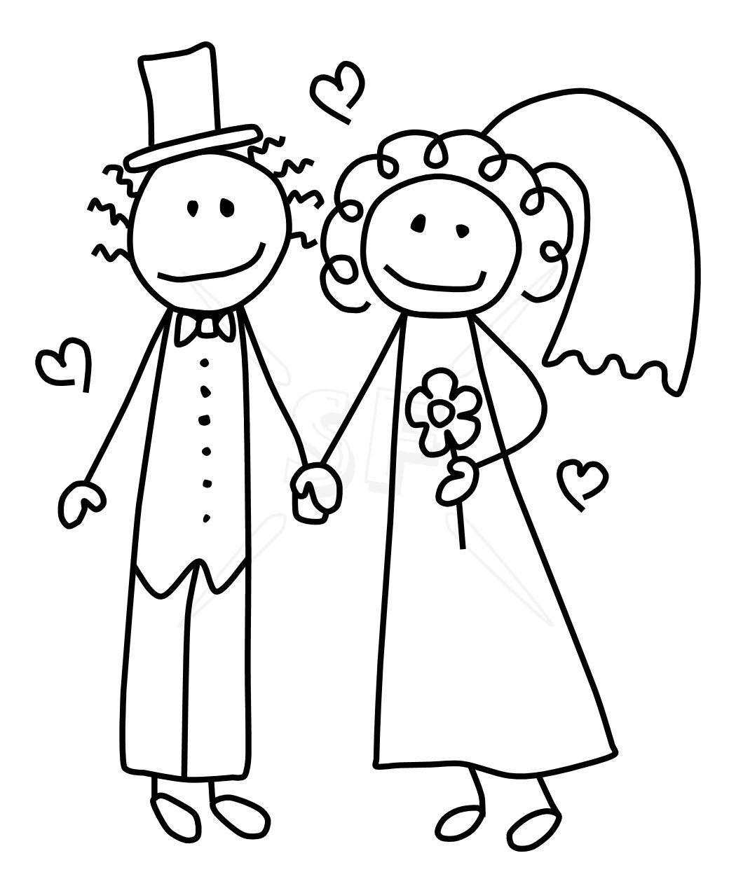 Wedding clipart outline Clipart Stitching And this Pin