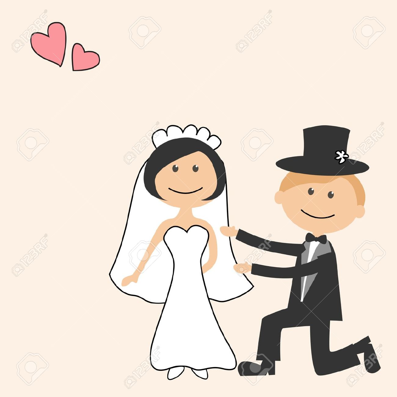 Bride clipart cute Cartoon groom free bride free