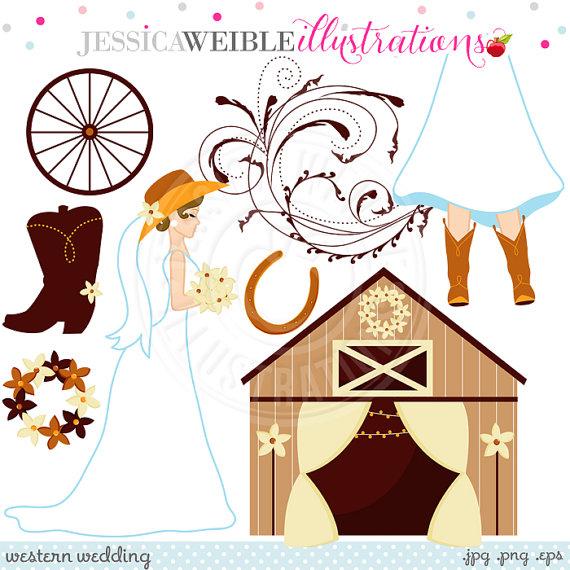 Cowgirl clipart cute  Cowgirl Clipart Bride