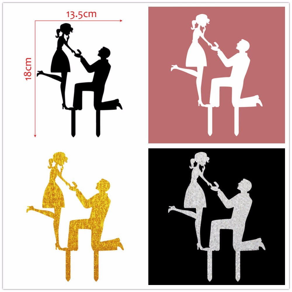 Bride clipart engagement party Decoration Topper Cake Supplies Acrylic