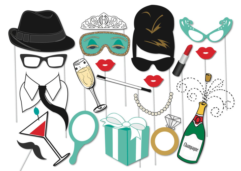 Bride clipart engagement party 20 Set Props Tiffanys Party