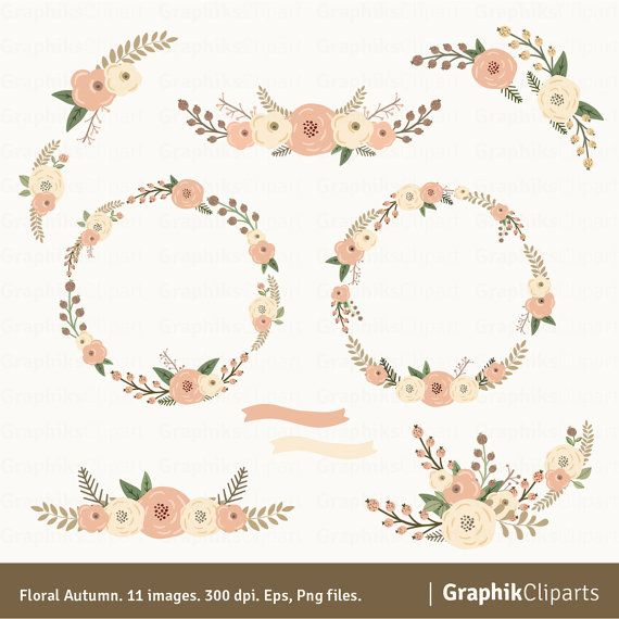 Rustic clipart wedding floral Clipart on by Clipart Floral