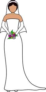 Wedding Dress clipart stand Wedding Image Standing Image: Bride