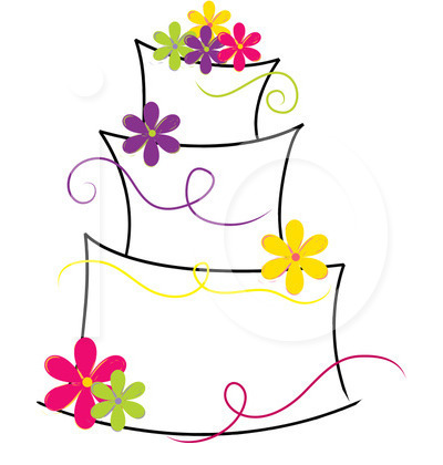 Cake clipart line art Images Cake Clipart Art Wedding