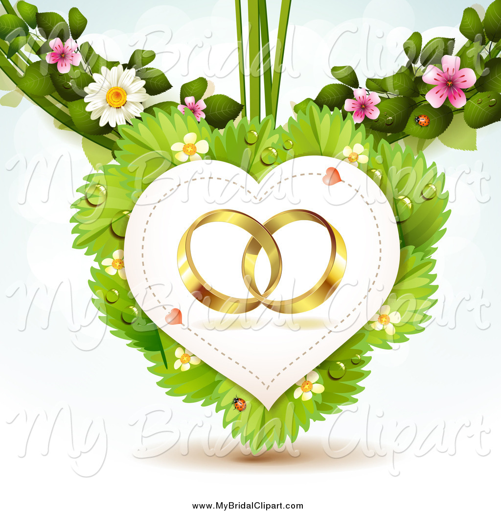 Bride clipart gold heart Stock Blossoms a in with