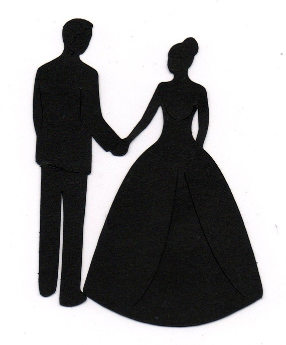 Wedding Dress clipart bride and groom silhouette For for Bride  Holding