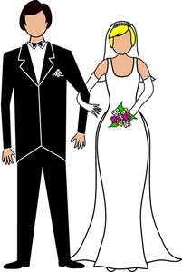 Wedding clipart cartoon Handsome groom Wedding groom bride