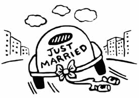 Wedding clipart just married Clipart Groom And Clipart Bride