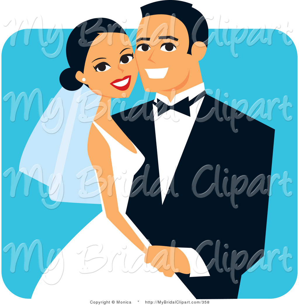 Blue clipart bride and groom Wedding Hispanic Free on Groom