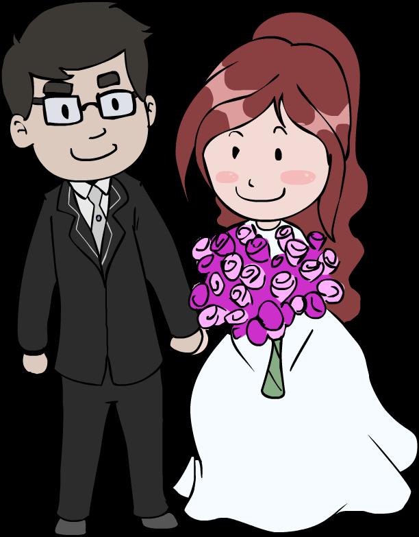 Bride clipart husband Free Couple Cartoon Clipart couple