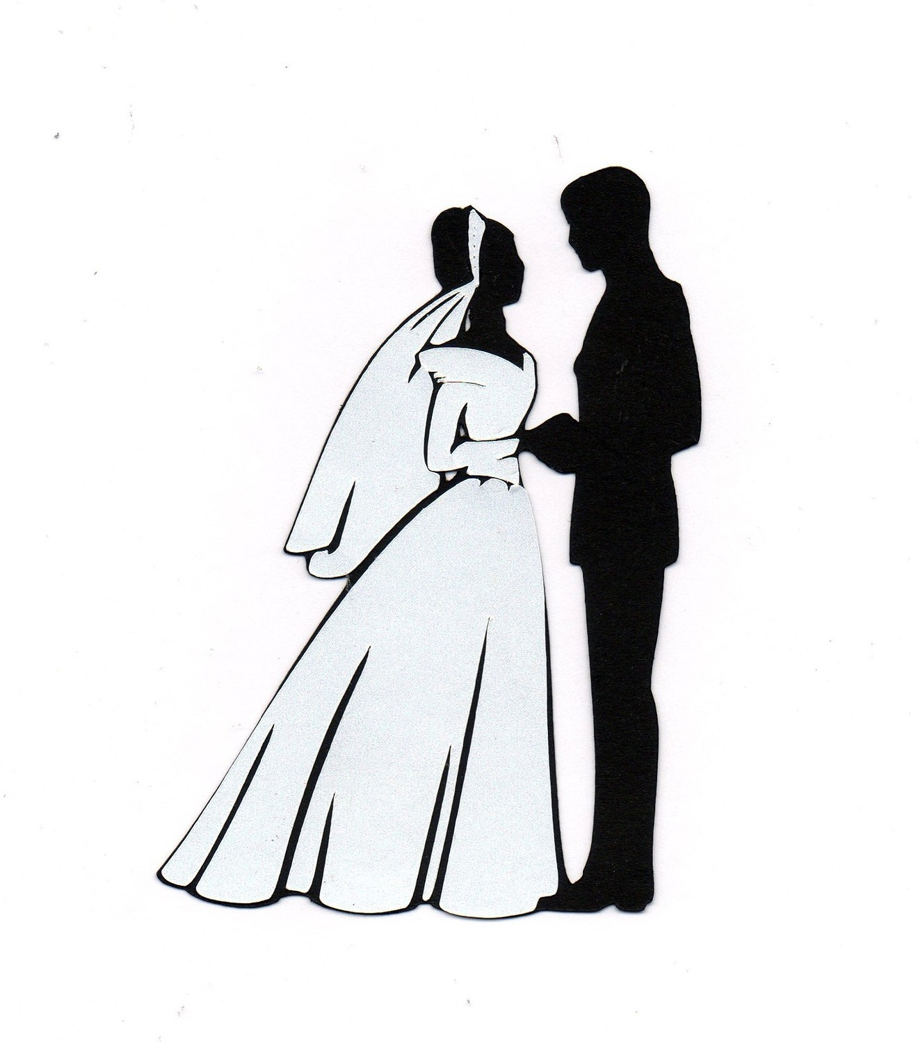 Wedding Dress clipart bride and groom silhouette And  co Groom Silhouette