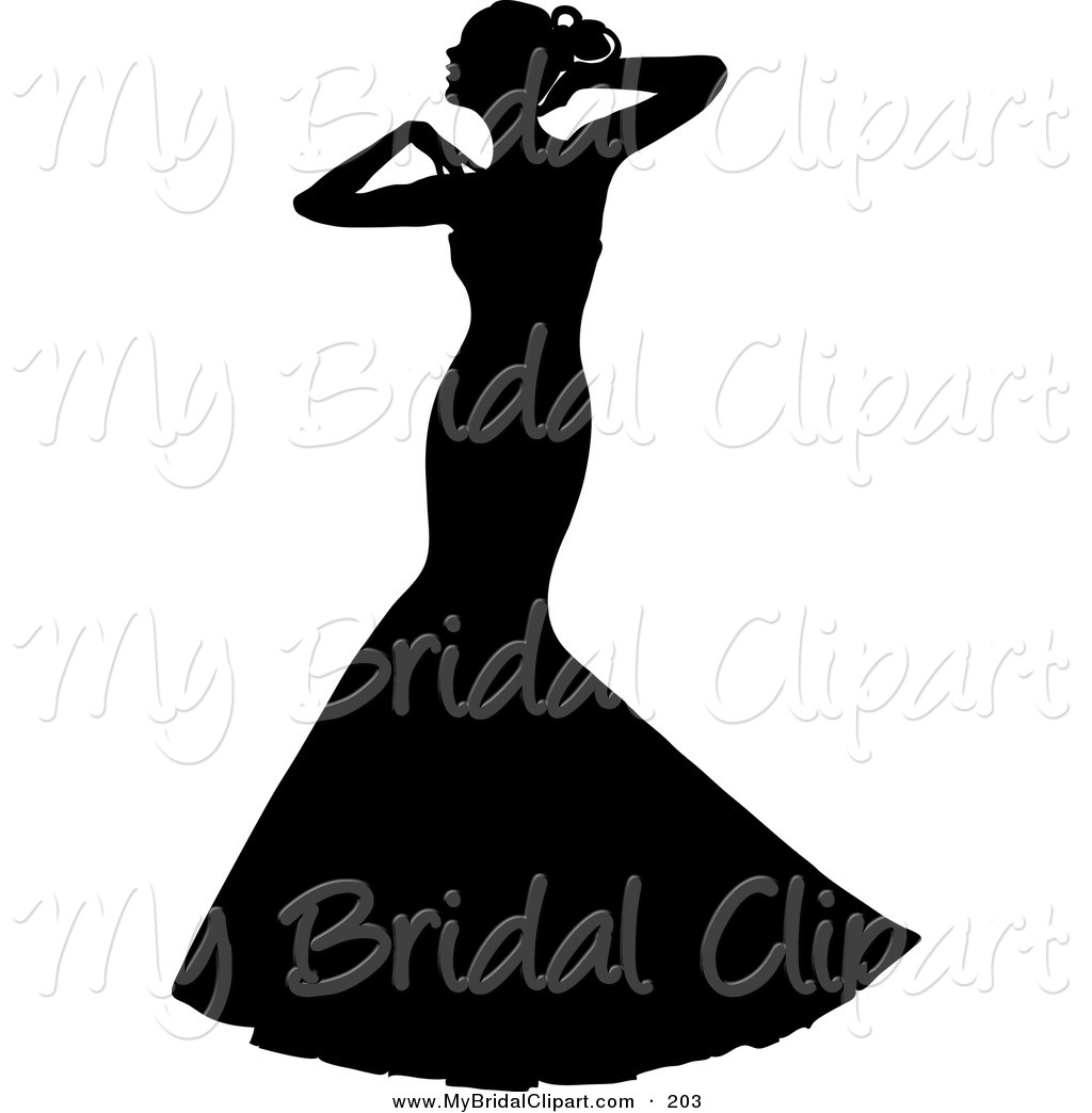 Wedding Dress clipart debutante Wedding%20dress%20outline Clipart Images Free Clipart