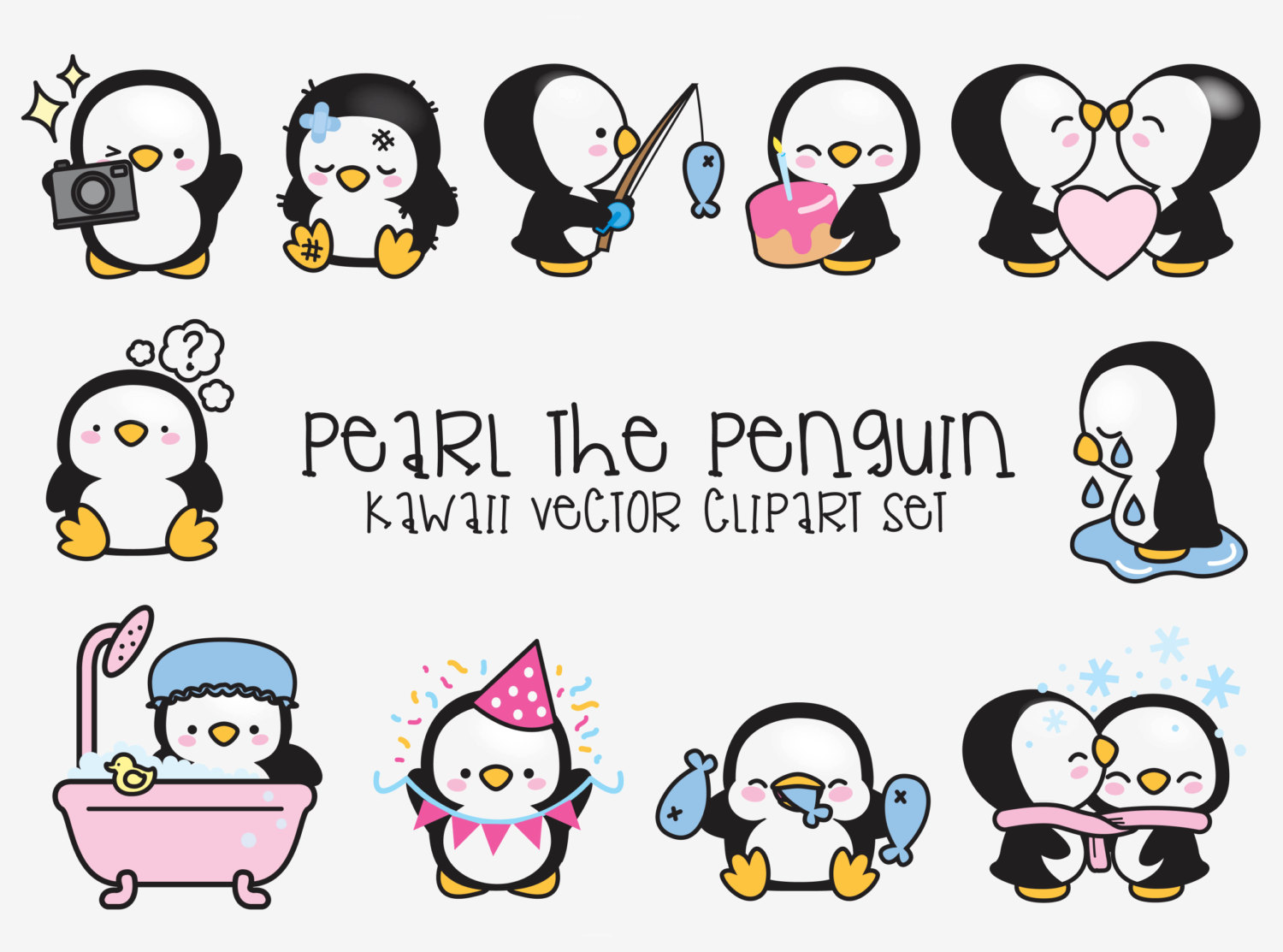 Wedding clipart penguin Pearl Clipart Vector Cute this