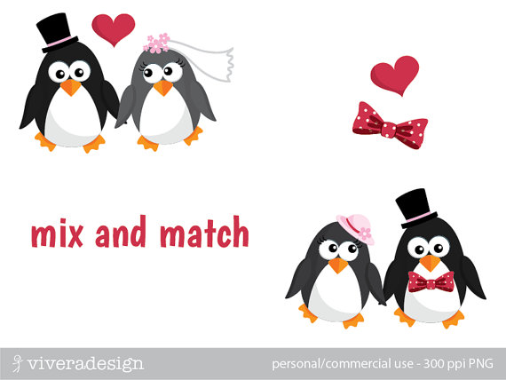Wedding clipart penguin And by Groom Clipart clip