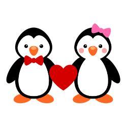 Cuddling clipart Penguins Search couple Casamento cute