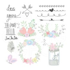 Wedding clipart rustic  Com Spring by Vector