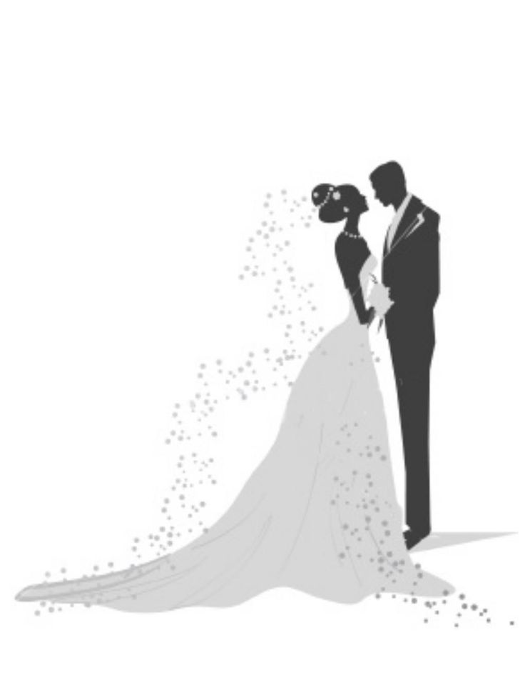 Wedding Dress clipart bride and groom silhouette Best Pinterest Result for on
