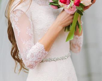 Bride clipart skinny bride Thin rhinestone thin bridal sash