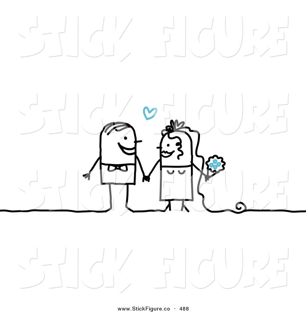 Bride clipart stick figure Two Figures People Stick Couple