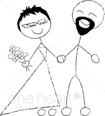 Bride clipart stick figure Beatnik ) Clipart found Results