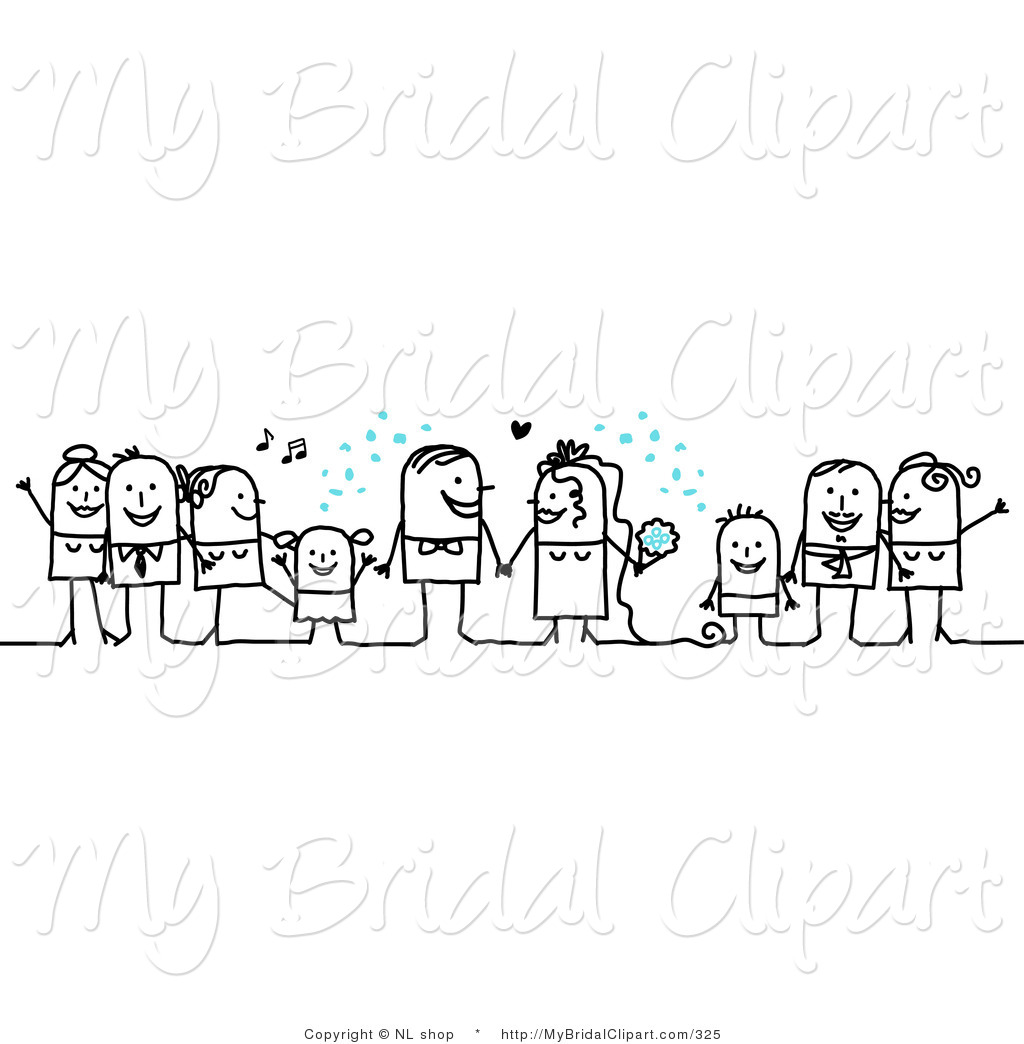 Bride clipart stick figure With Bridal Tossing of Character