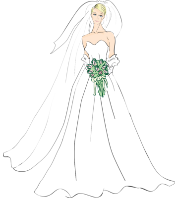 Bride clipart transparent #5