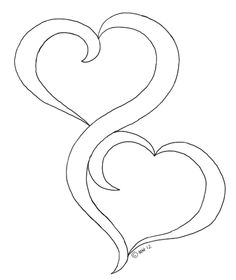Drawn hearts glitter Stencils  pond good digis