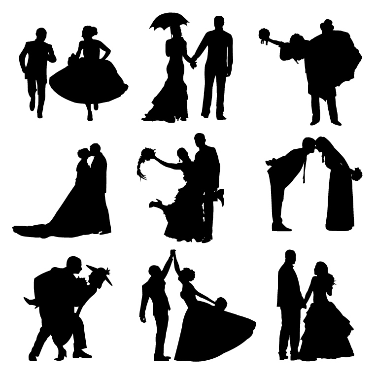 Bride clipart vector Groom Cliparts Pictures vector collection