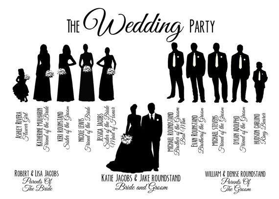 Bride clipart wedding celebration Bridal Party Clipart
