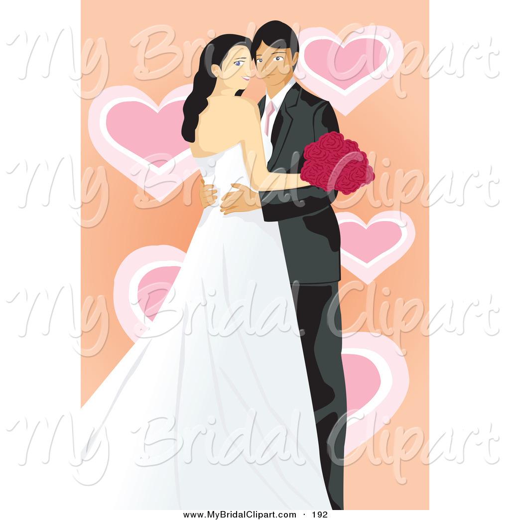 Bride clipart wedding couple A Clipart Hearts Wedding an