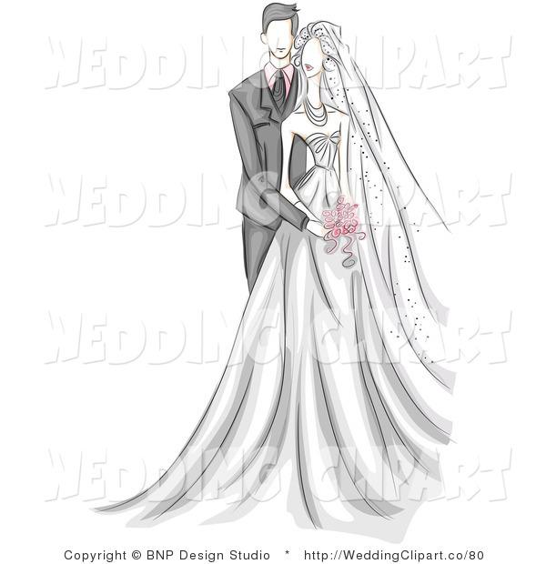 Wedding Dress clipart stand Clip studio standing wedding couple