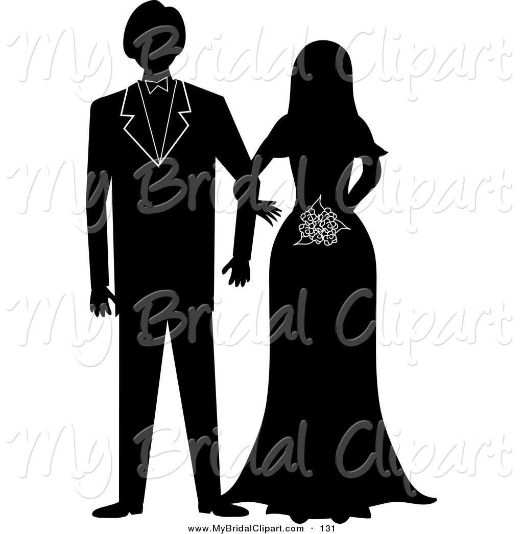 Bride clipart wedding day Bride and Silhouetted Wedding