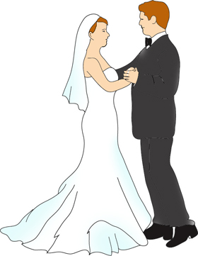 Bride clipart wedding day Wedding your own Invitations Make
