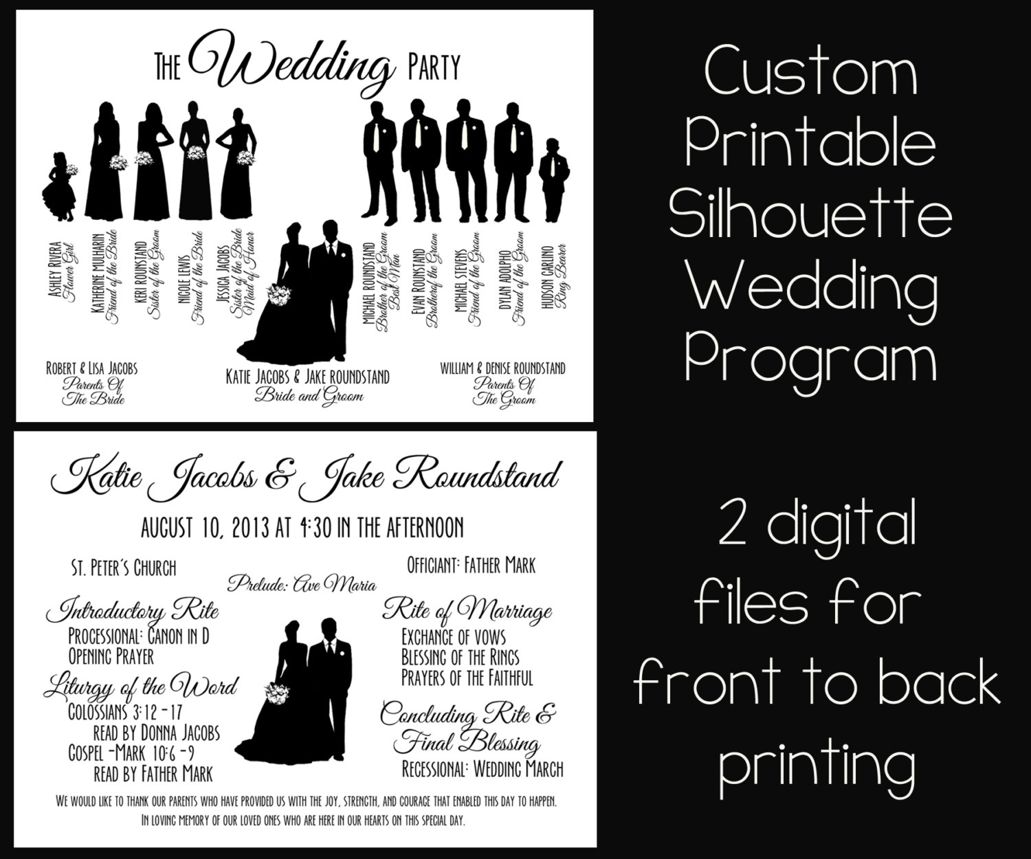 Bride clipart wedding program Party Silhouette Free Art Wedding