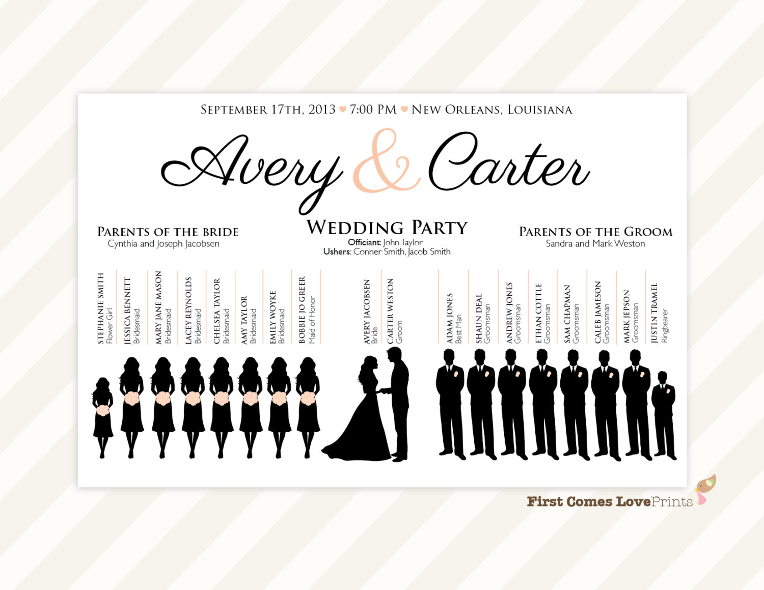 Bride clipart wedding program Silhouette Template Wedding Wedding Party