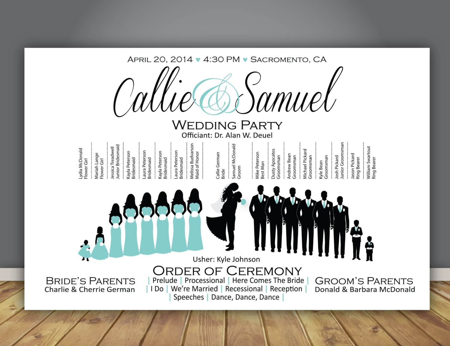Bride clipart wedding program #14