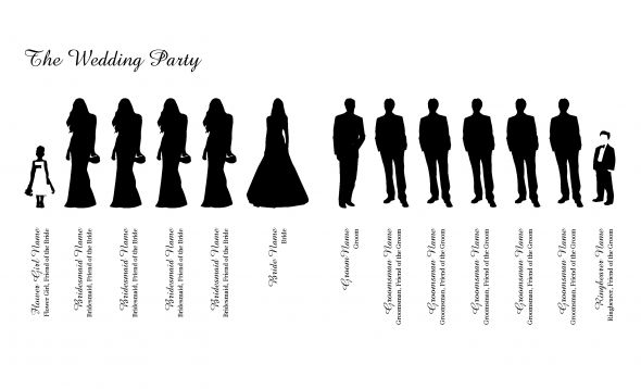Party clipart wedding party Party Clipart Silhouette  Bridal