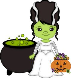Frankenstein clipart cartoon CLIP ClipartBride HALLOWEEN BRIDE ART