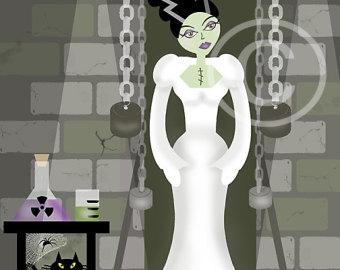 Bride Of Frankenstein  clipart cute #15