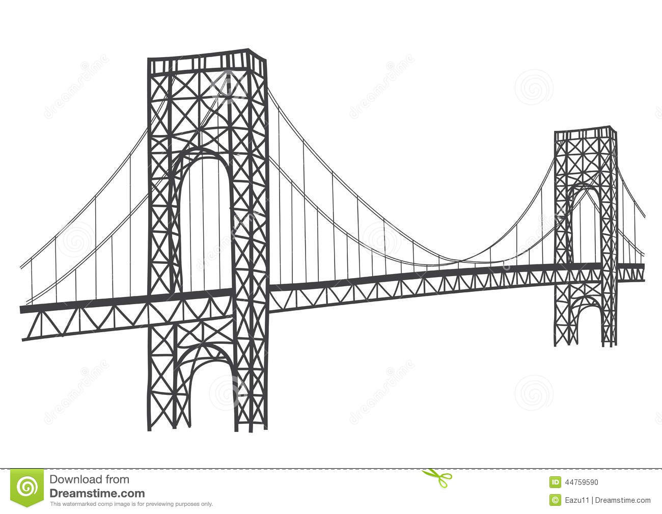 Drawn bridge landscape Free Images Art Clipart Panda
