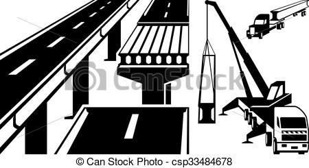 Bridge clipart beam bridge Concrete Illustration mounting bridge Crane