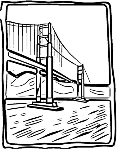 Bridge clipart coloring Bridge Coloring Coloring Click Pages