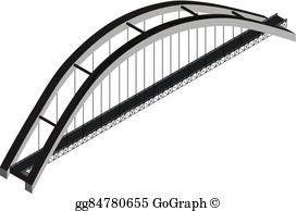 Bridge clipart isometric Suspension arch bridge Clipart Isometric
