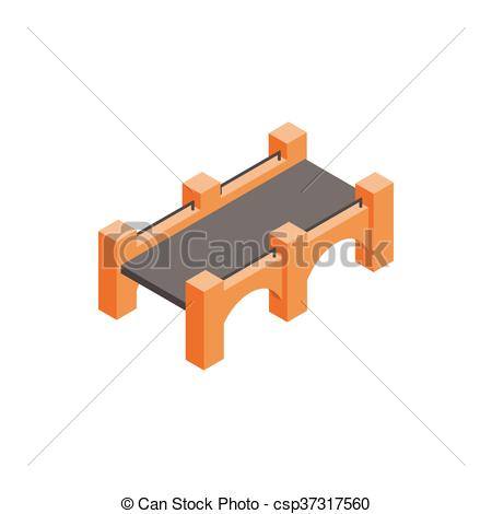 Bridge clipart isometric Csp37317560 bridge Clip Art style