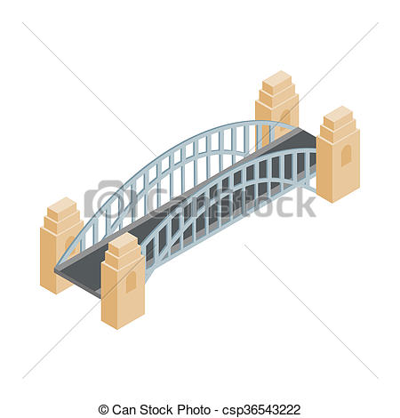 Bridge clipart isometric Isometric Illustration 3d style isometric