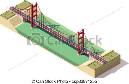 Bridge clipart isometric Vector Vector of Vector Clipart