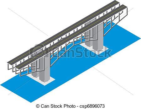 Bridge clipart isometric Vectors isometric of isometric white