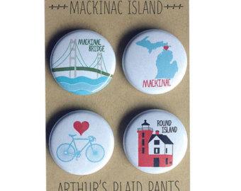Bridge clipart mackinac island Badges Mackinac bridge Mackinac bridge