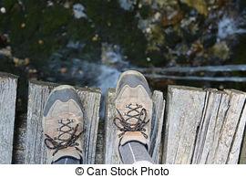 Bridge clipart morning walk Sad shoes lone over the