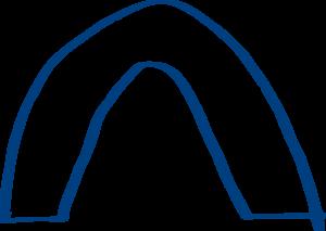 Bridge clipart outline Download Clip Bridge Blue art